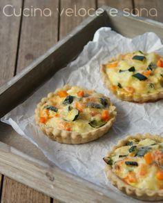 Crostatine salate alle verdure | Cucina veloce e sana