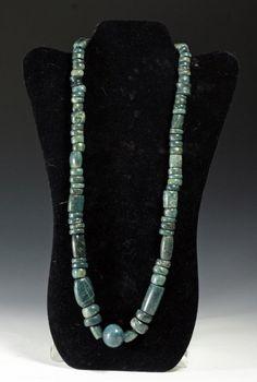 Ancient Pre-Columbian Jade Necklace