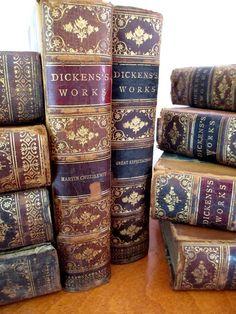 Antique books Dickens fifteen volume