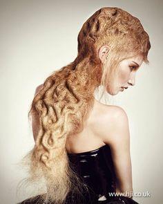 Indira Schauwecker Picture Three - that is crazy hair Hair Inspo, Hair Inspiration, Angelo Seminara, Avant Garde Hair, Extreme Hair, Hair Photography, Hair Magazine, Hair Reference, Fantasy Hair