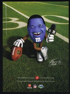 m&m candy celebrities | 2009 M&M's Candy M&M Candy Super Bowl Football Party Michael Strahan ...