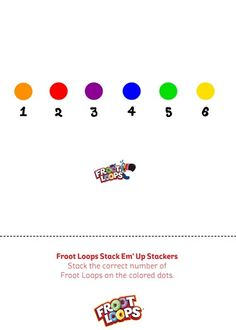 Froot Loops Stack Em Up Stackers Busy Bag helps your child practice color recognition and counting