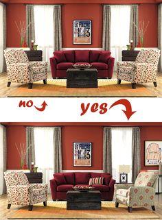 Bon Balancing Act Creating Asymmetry   Design Meets Comfort   La Z Boy  Furniture Galleries