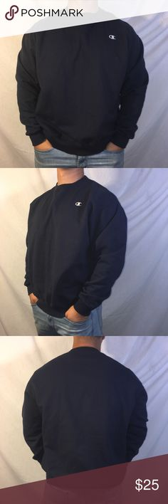 Champion Eco Pullover Crew Neck Sweater Champion Eco Pullover Crew Neck Sweater Navy Blue in great condition size XL Champion Sweaters Crewneck