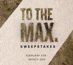 TO THE MAXSweepstakesEnter for a chance to winA Custom Bound Rug or$1,000 towards anew SmartStrand Silk Carpet Purchase.Winners will be sele