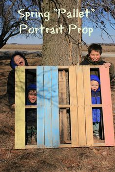This fun outdoor prop was easy to make with Rose Art Surprise Inside Chalk and is a neat way to take spring photos with the kiddos!
