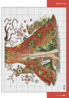 4 of 6 Autumn Fairy  From Cross Stitch Collection N°267 October 2016                                                                                                                                                                                 More