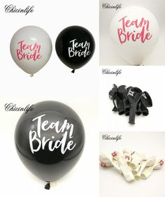 [Visit to Buy]  Chicinlife 10Pc Team Bride Round Latex Balloons Hen Night party Bridal Shower Wedding Bachelorette Party Decor Balloon Supplies #Advertisement