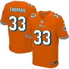 Nike Mens Daniel Thomas Jersey Miami Dolphins #33 Elite Orange NFL Jersey Sale