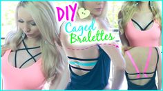 DIY ✂ Cute + Easy Caged Bralettes!
