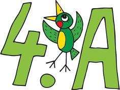 cedulka-skola-4-A Symbols, Peace, Letters, Logos, School, Sport, Deporte, Logo, Sports