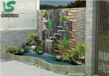 TƯỜNG THÁC NƯỚC 430 Les jardins ne sont foulée seulement auprès l. Small Backyard Gardens, Ponds Backyard, Backyard Patio, Modern Outdoor Fountains, Landscape Design, Garden Design, Side Yard Landscaping, Stone Wall Design, Small Balcony Design