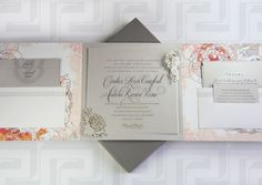 Candace Crawford and Tony Romo wedding invitations done by dallas-based Paradise Design Co more see image link