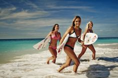 Alana Blanchard, Tyler Wright, and Bethany Hamilton live their Search in the Mirage Bikini