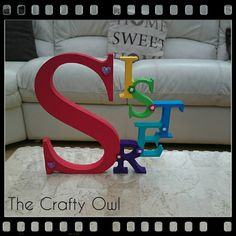 3 Letter, Hand Painted, Diy Crafts, Colours, Lettering, Crafty, Canning, Facebook, Make Your Own