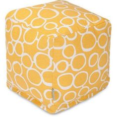 Majestic Home Goods Fusion Cube, Yellow