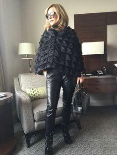 #NYFW #OOTD ✨▪️ Anastasia Soare, Leather Fashion, Pants, Ootd, Beauty, Women, Style, Leather, Feminine Fashion