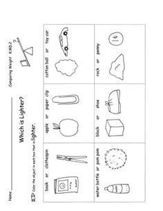 math worksheet : measurement  kindergarten math kindergarten and common cores : Kindergarten Capacity Worksheets