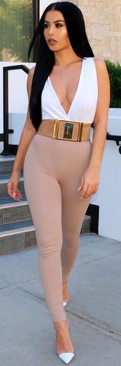 Nude x White // Fashion Trend by  amrezy