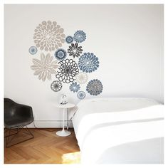 Wallflowers Wall Decal - Grey : Target