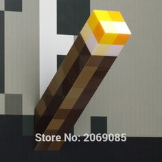 Minecraft Light Up Jeu Populaire Torche Nuit Lumière Led PVC Jouet Jouets #1177 Action Figure Jouet Enfants Cadeau