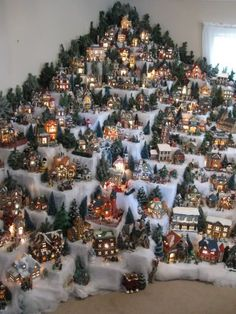 Where To Buy Christmas Village Every Village Display Stands Where To Buy Tips Christmas Displays Christmas Village Display, Christmas Town, Christmas Villages, Noel Christmas, Winter Christmas, Christmas Crafts, Christmas Recipes, Christmas Village Accessories, Christmas Mantles