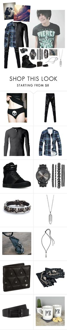 """I love you, the D -Ace"" by nefelibata-anons ❤ liked on Polyvore featuring Supra, Akillis, Lanvin, Versace, Montblanc, Ultimate, men's fashion and menswear"