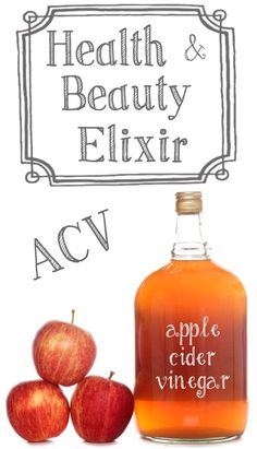 28+ Health and Beauty Benefits of Apple Cider Vinegar ! Has natural internal & external enzyme inside that promotes healing!!