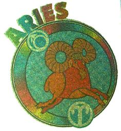 Vintage Aries T Shirt Iron On Heat Transfer by CrushiVintage