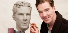 Its finally starting to come together! Benedict & his wax model.