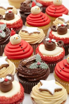 LOLA's Christmas Cupcake Selection.