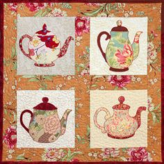 teapot quilt. Try make for mom.