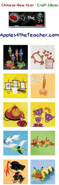 Chinese New Year craft ideas  http://www.apples4theteacher.com/holidays/chinese-new-year/kids-crafts/