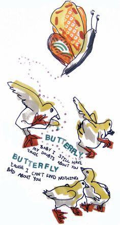 Mason Jennings, Butterfly - illustration by Laura Stoker