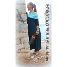 """Γυναικείο αμάνικο φόρεμα μάξι με γιακά """"Ζωγράφος"""""""