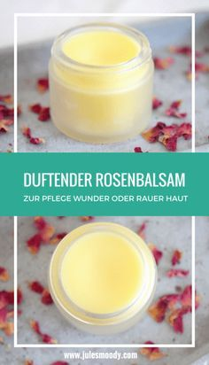 Wonderfully fragrant rose balm for the care of cracked or miraculous Wunderbar duftender Rosenbalsam zur Pflege rissiger oder wunder Haut! You can use this fragrant rose balm for any rough, cracked or sore skin and thus speed up the healing process! Diy Skin Care, Skin Care Tips, Fragrant Roses, Homemade Cosmetics, Anti Aging Tips, Perfume, Neutrogena, Natural Cosmetics, Natural Skin Care