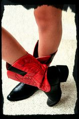 Red/Black Boots - Go Dawgs!