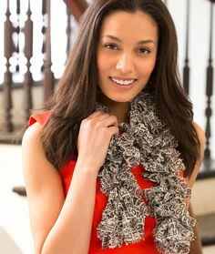 Yarn? With words? What can I say?   ---> Destination Scarf Knitting Pattern | Red Heart