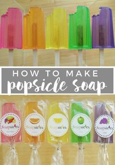 How to Make Popsicle Soap #soapmakingbusinessplan #naturalsoaprecipes #soapmakingbusinessskincare