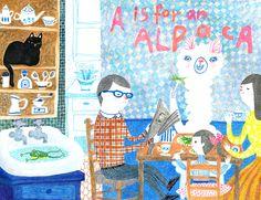 A is for an alpaca on Behance