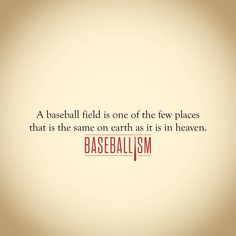 Throw down three bases and a home plate and even the shabbiest pieces of land becomes a work of art. #AmericasBrand