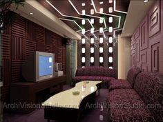 karaoke box concept rendered by archivisionstudio