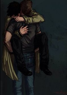 Favorite Destiel fanart... It's so depressingly beautiful I have no words...