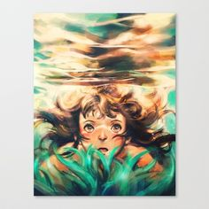 The River Stretched Canvas by Alice X. Zhang - $85.00