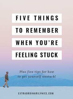 Feeling Stuck | Law of Attraction | Personal Development via @extraniceblog