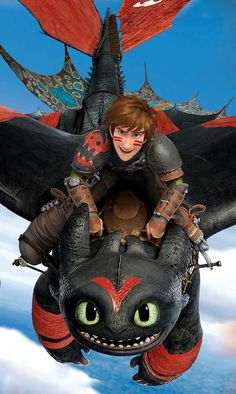 HTTYD 2 - Hiccup and Toothless in racing paint!!!