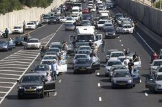 At 10am this morning, 4/8/13, all of Israel paused for the two-minute siren in remembrance of the Jews that were murdered in the Holocaust. It's surreal seeing life literally stand still, and it makes you think of the enormity of what we lost.