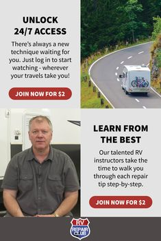 You've been specially invited to join the RV Repair Club at 97% off the regular price (normally $65). Join today and you'll get a whole year of our best Premium instructional RV videos, helpful tips & amazing projects for only $2! Rv Videos, Rv Tips, Rv Hacks, Diy Crafts Hacks, Romantic Quotes, Healthy Smoothies, Fun Learning, Helpful Tips, Human Body