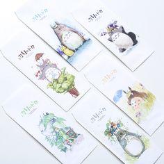 New Novelty Miyazaki Hayao Totoro Envelope Message Card Letter Stationary Storage Paper Gift Window Envelopes, Paper Envelopes, Kraft Envelopes, Totoro, Stationary Storage, Stationary Supplies, Gift Envelope, Shipping Supplies, Kawaii