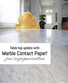 Update any flat surface with Marble Contact Paper from #designyourwall